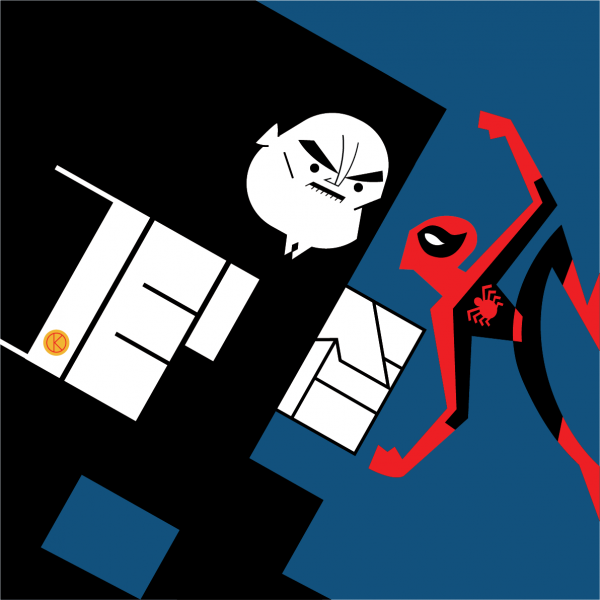 Kingpin and Spiderman