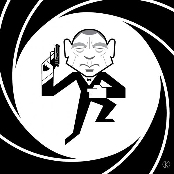 James Bond for Instagram's Vectober 2018