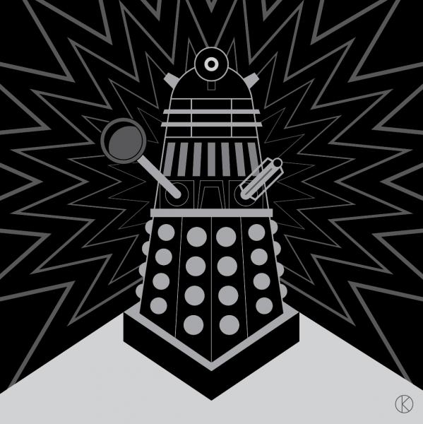 Dalek for Instagram's Vectober 2018