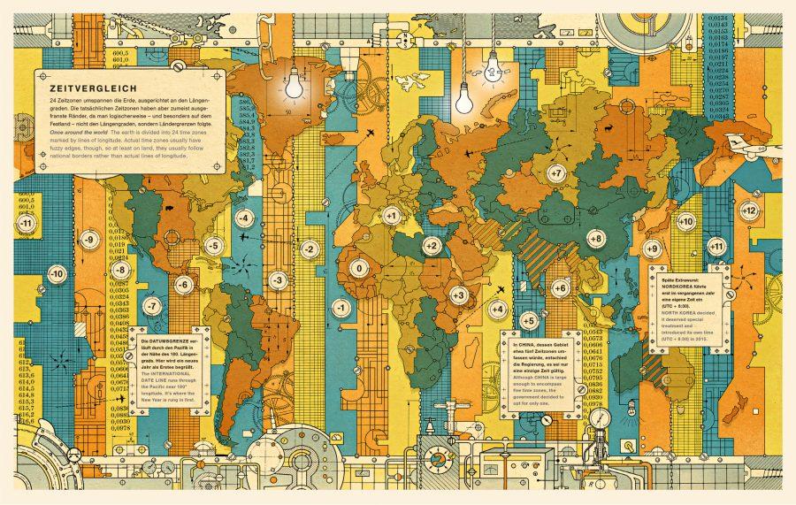 Time Zones / Lufthansa Magazine