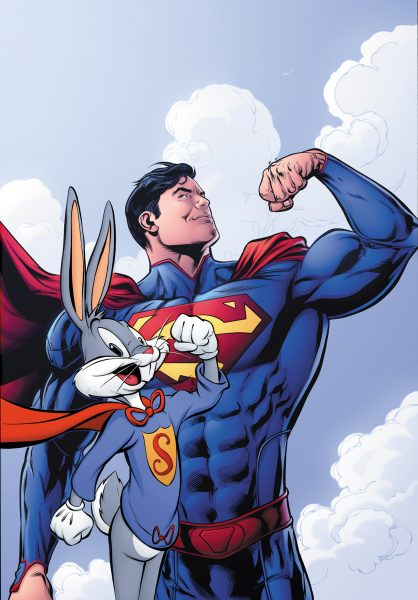 Super Man and Bugs Bunny