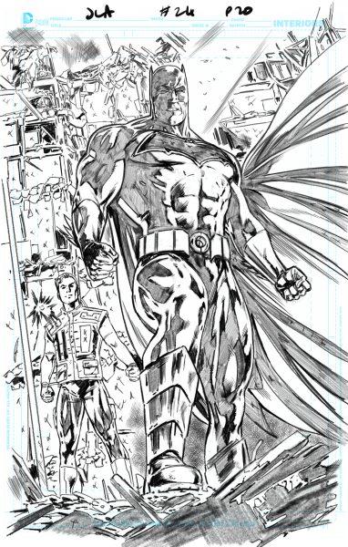 Justice League America 24 / Pencil Page 20