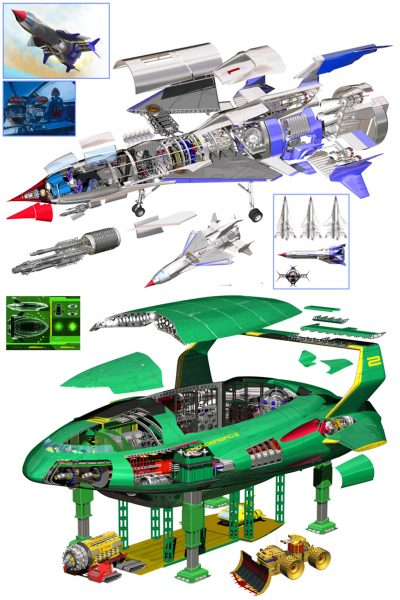 Thunderbirds 1 & 2