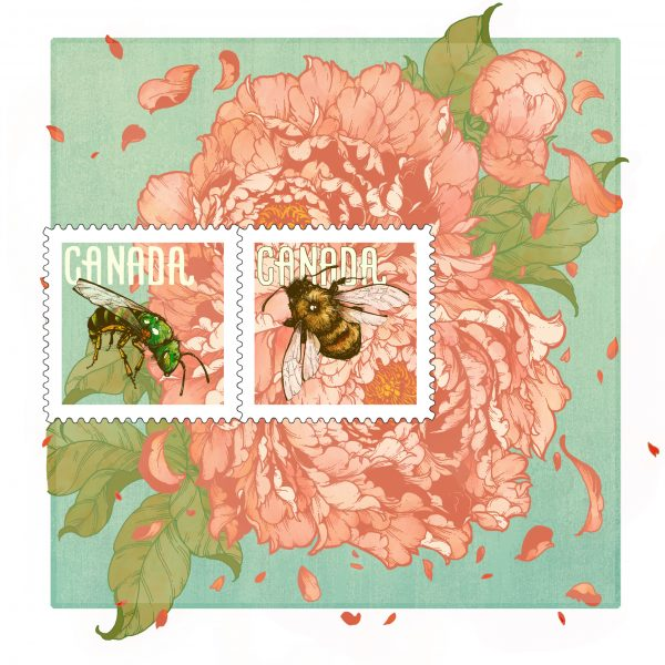 Canadian Bee Postage