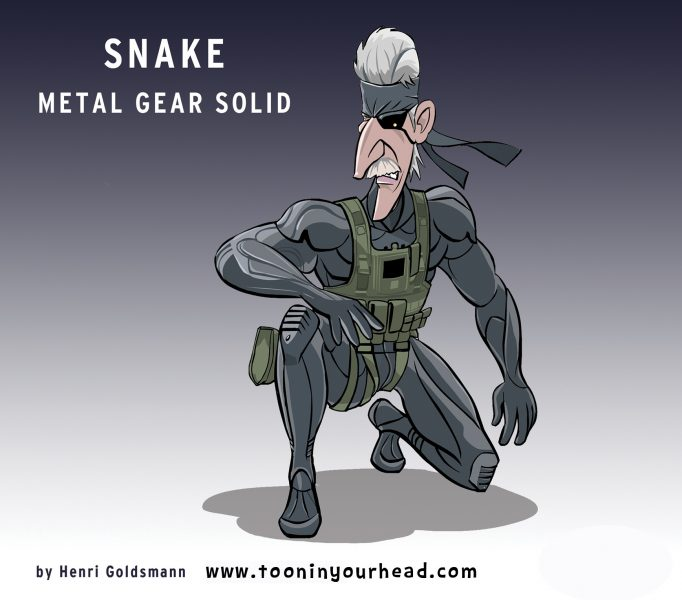 Henri Goldsmann-9-Character Design Mobile Game-Snake-Metal Gear Solid-2