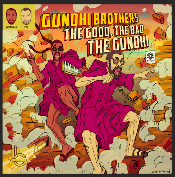 Gundhi Brothers Comic style album cover