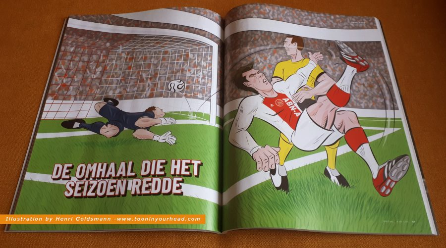 Spread Illustration Huntelaar-Ajax-by Henri Goldsmann