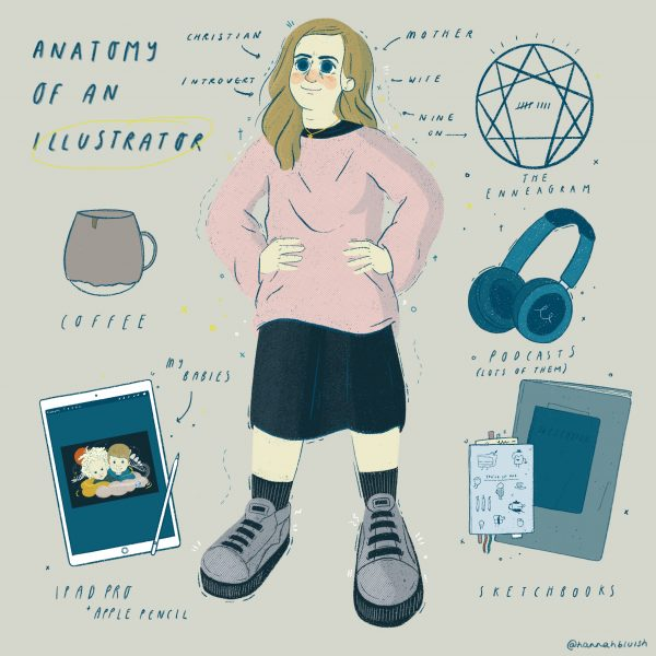 Anatomy of an Illustrator by Hannah Bluish