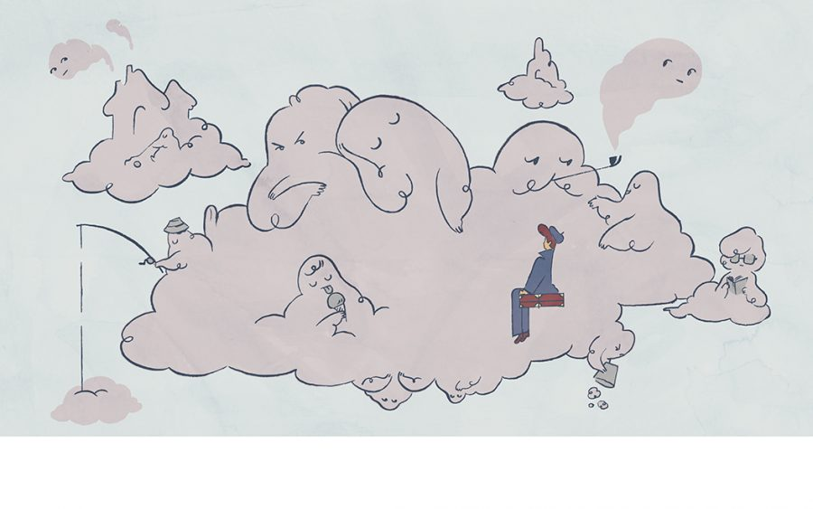 Lucien arrives at the City in the Clouds