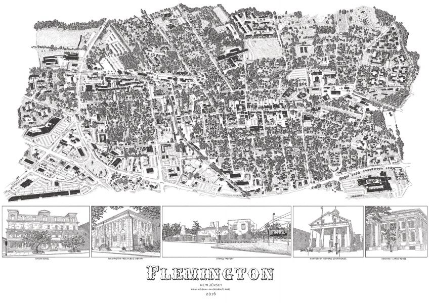 Flemmington Town Map