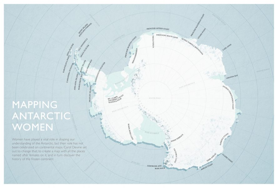 Mapping Antarctic Women
