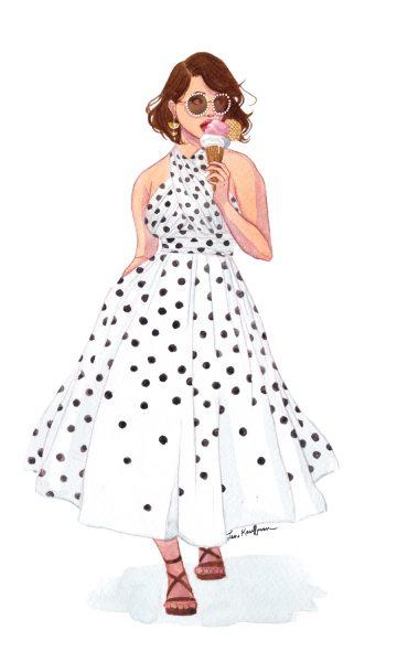Polka-dot-dress-tumblr