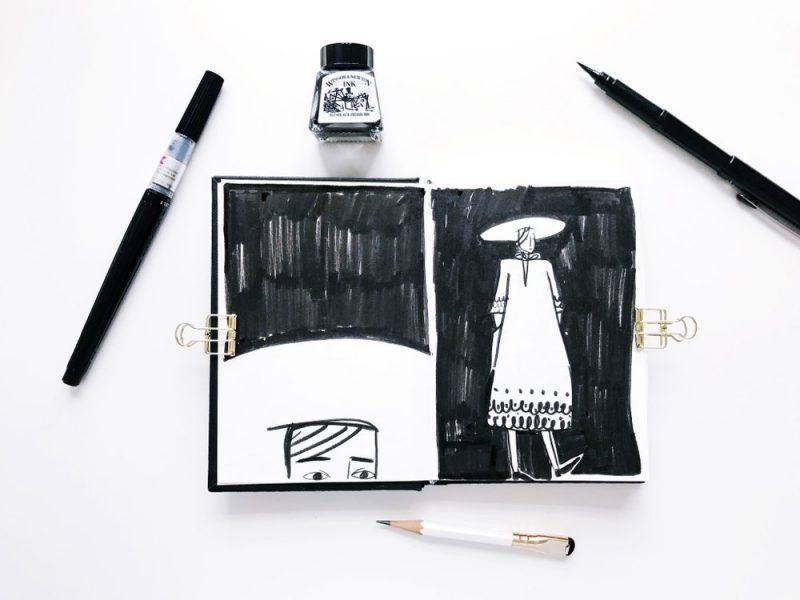 Black and White Sketchbook (hat)