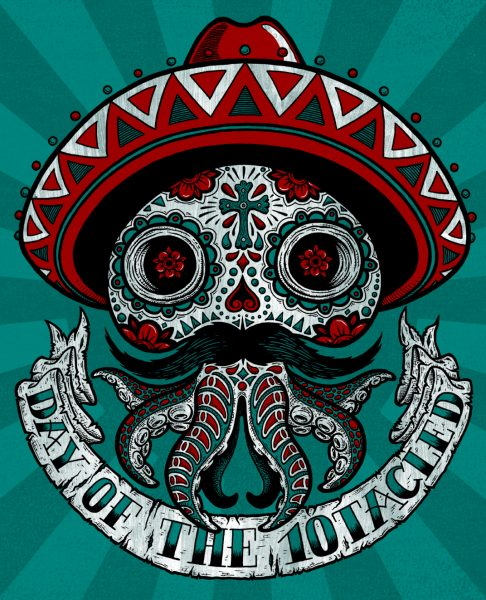 Day of the Dead (10tacled T-shirt Design)