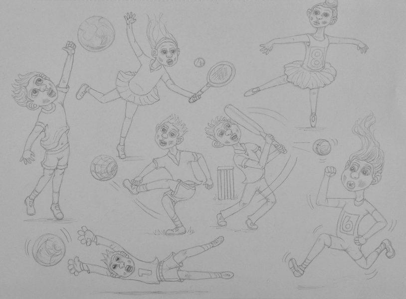 Children in various activities