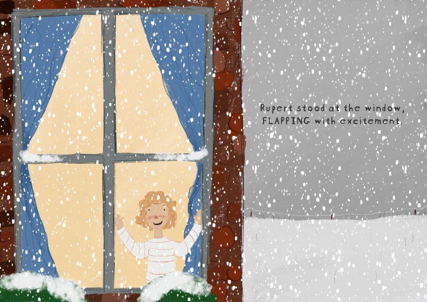 Rupert at the window