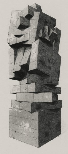 Geometry of Living - Tower 3 (Etching + Aquatint)