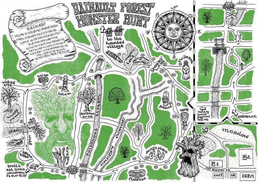 Hainault Forest Monster Hunt Map