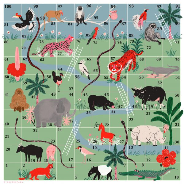 Forest theme- snakes and ladders
