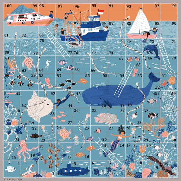 Sea themed - snakes and ladders