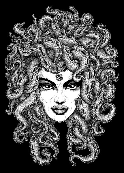 Medusa (10tacled T-shirt Design)
