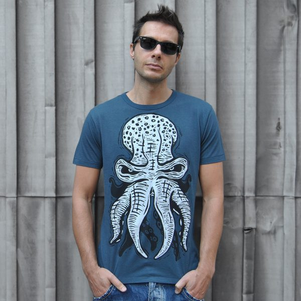 Octopus (10tacled T-shirt Design from Linocut)
