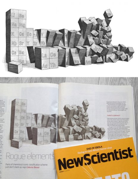 Rogue Elements (illustration for New Scientist)