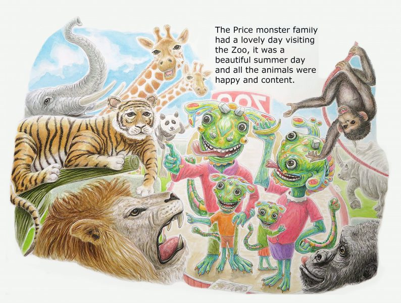 The Price monster family visit the zoo