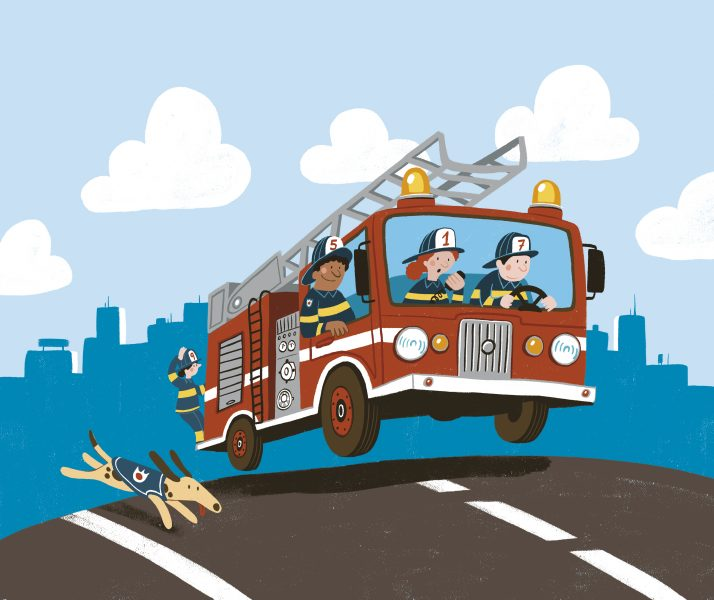 Firetrucks cover COLOR