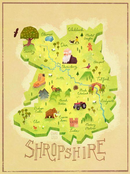 Shropshire Map