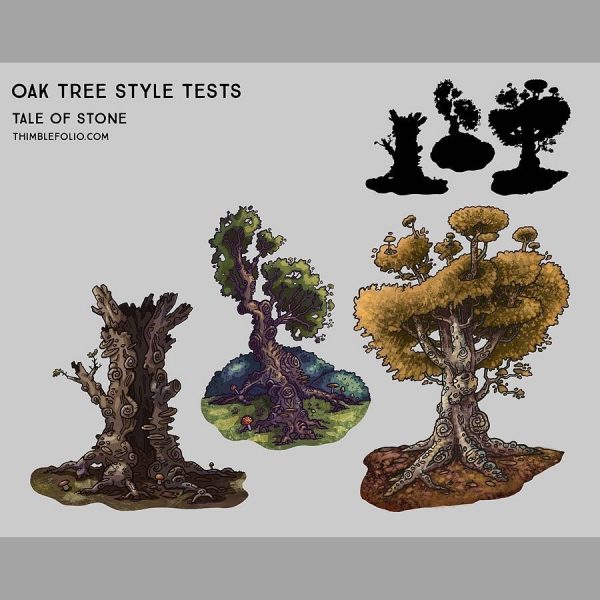 Concept art for trees