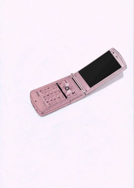 flip phone, Editorial illustration