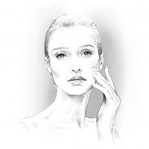 Girl with Face Cream