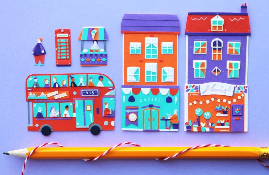 Paper Cut Miniature City