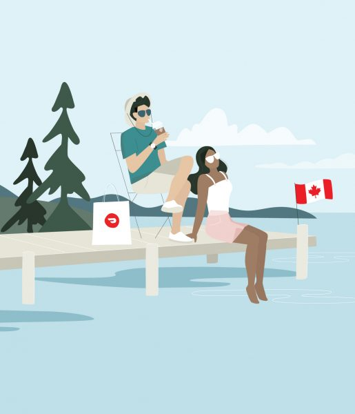 DoorDash, Time to Celebrate Canada Day Campaign