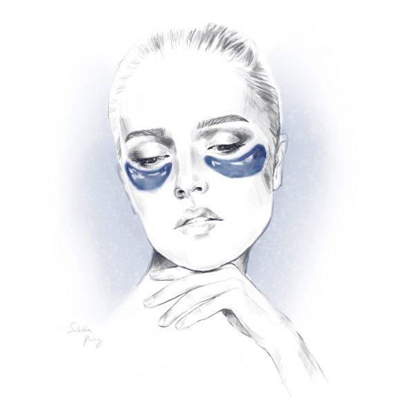 Girl with Under Eye Mask