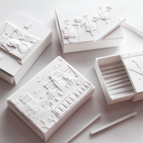 White Paper Matchboxes