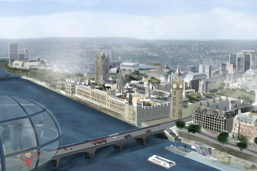London Eye by Itzy Bloom