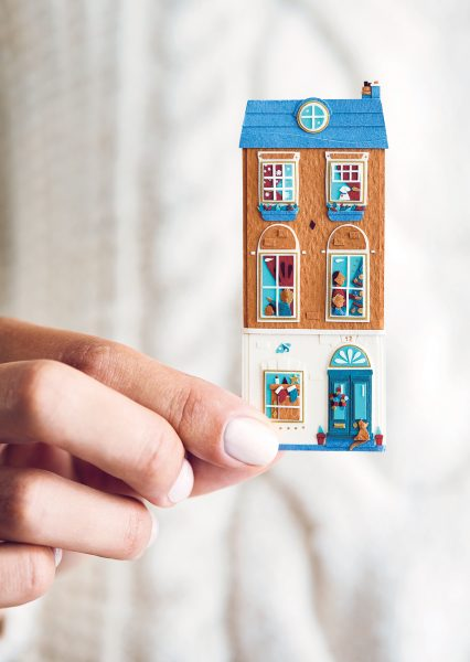 Miniature Paper House for Not on the High Street