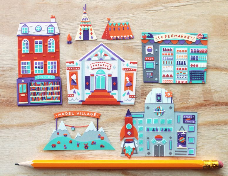 Paper Cut Buildings