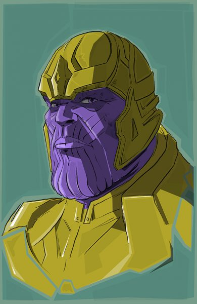 Thanos from Avengers Endgame.