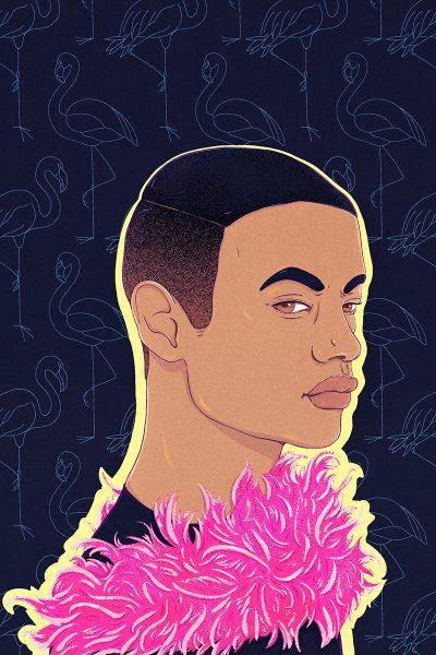 Harper Collins | Dean Atta's The Black Flamingo US book cover