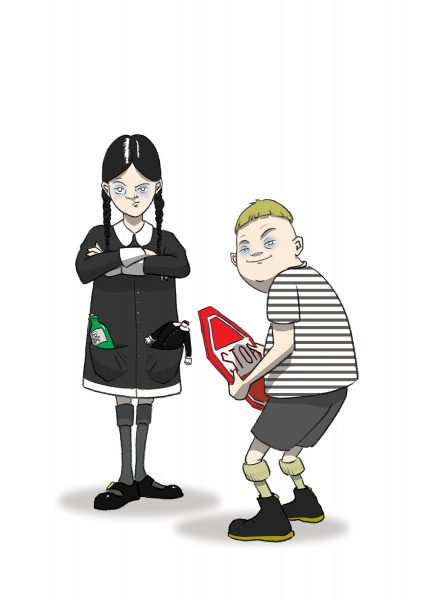 Wednesday & Pugsley Addams.
