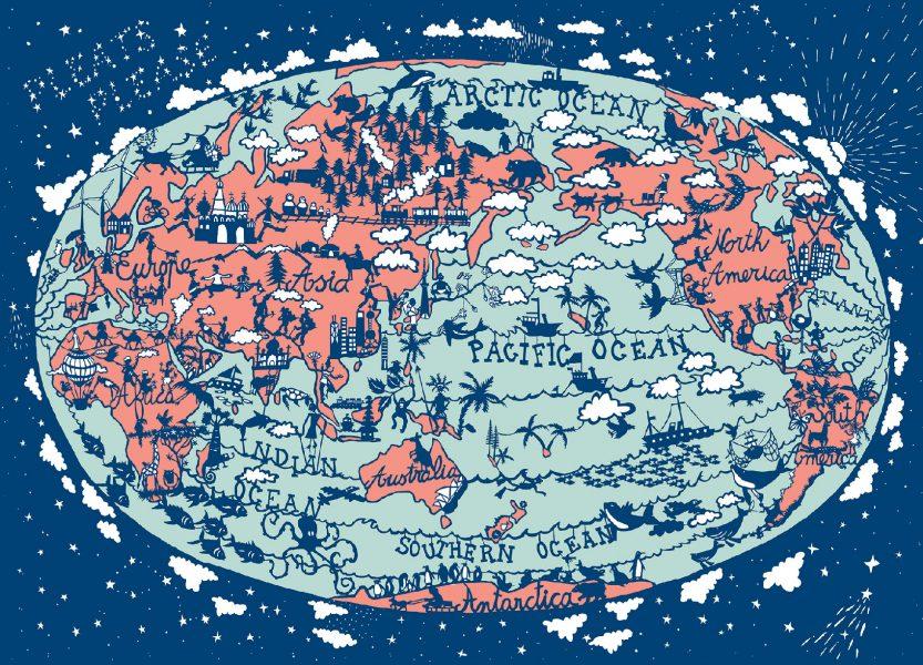 World Map for Issey MiyakeJMarabelle