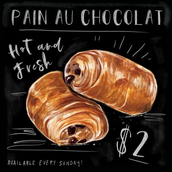 Pain Au Chalk Sign
