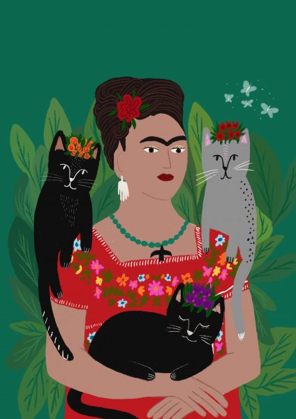 Frida and her Cat