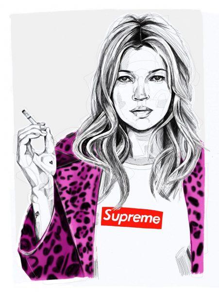 Kate Moss & Supreme