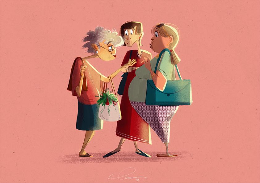 Italian Market Ladies