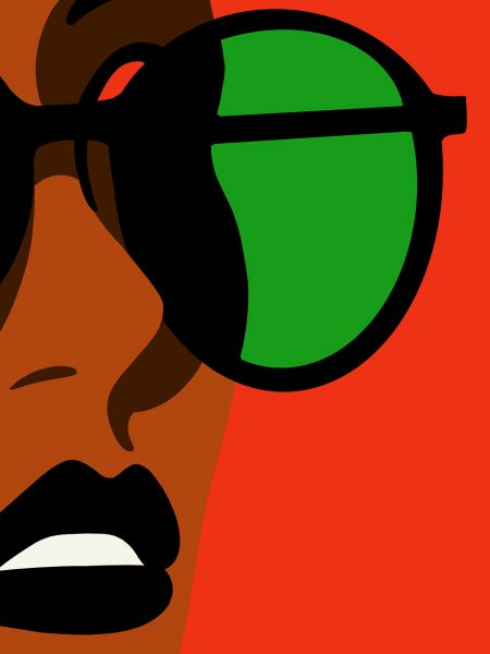 woman-wearing-rayban-sunglasses-at-beach-illustration-lars-madsen