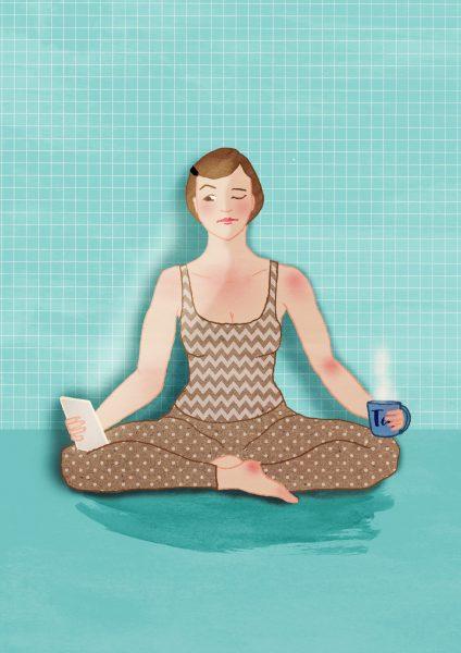 Distracted Yoga
